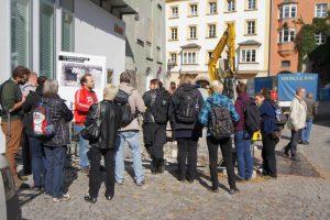 Stadtführung für die ExkursionsteilnehmerInnen der Friedrich-Schiller-Universität Jena, 2013, Foto: Stadtarchäologie Hall i.T.
