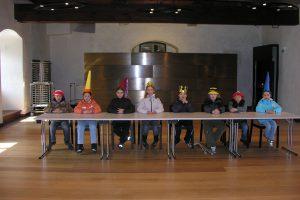 """""""Des Kunigs Hochzeit"""", 2008, Rollenspiel im Beheimsaal, Burg Hasegg, Foto: Stadtarchäologie Hall i.T."""